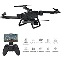 X8TW Foldable RC Quadcopter, Wifi FPV Camera Altitude Hold,Headless Mode Selfie Pocket Drone - Black