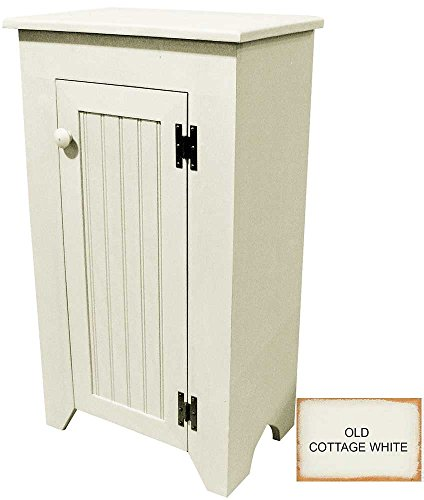 Cottage Cupboard - Sawdust City Narrow Wooden Cupboard (Old - Cottage White)