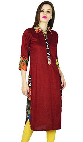 Phagun Kurta diseñador indio étnico Mujeres Kurti algodón Rayón Top túnica del vestido