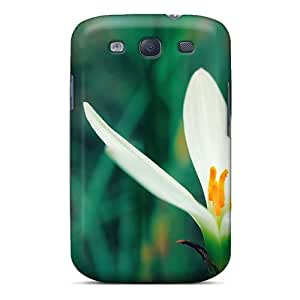 Galaxy S3 Case, Premium Protective Case With Awesome Look - White Crocus