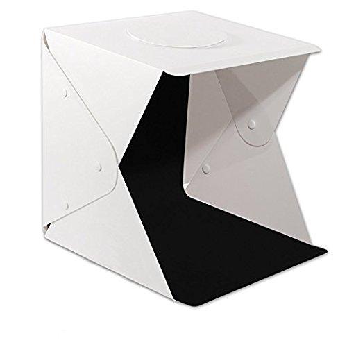 LAMZIX Mini Photography Studio Light Tent LightRoom Light Box Kit with LED Light: Foldable Led Light Tent+ Four Backgrounds(Black+White+Red+Green) by LAMZIX