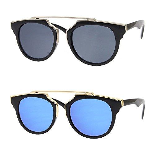 Design Chic Fashion Métal Noir Mode soleil Femme Jewelry BOBIJOO Bleu CE Unique de Homme Noir Bleu Lunettes Norme 8wqvn4Px7