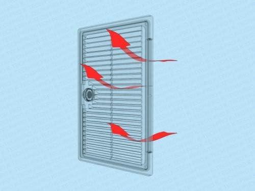 porte de r/évision ventilation avec grille da/ération. Rabat de r/évision plastique ventil/é ouverture de vision