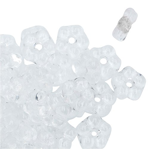 Preciosa Czech Glass, Forget Me Not Flower Spacer Beads 5mm, 72 Pieces, (Czech Flower Beads)