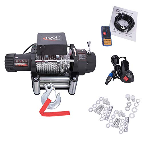 Tool Offroad Wireless Switch Classic 24V Steel Electric Winch 15000lb Load - Warn Winch Rt30