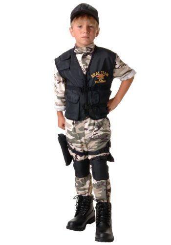 Underwraps Big Boys' Seal Team Costume Large (10-12) ()