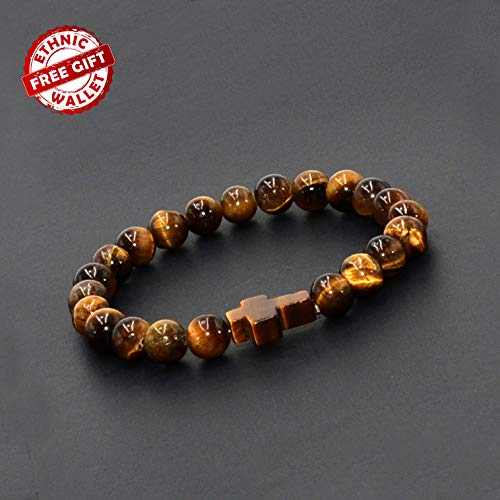 Tiger Eye Cross Bracelet