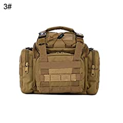 Specification: Multi-purpose fishing tackle bag. Made of water-resistant 900D oxford fabric, very solid. Tough stitched and zipper lock. Can be used as waist pack, haversack or carry bag. Can storage your pliers, fishing bax, baits and...