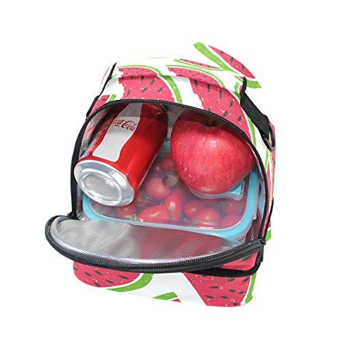 con aislamiento la de diseño con Alinlo con pincnic de Bolsa para ajustable de escuela el almuerzo correa para sandía hombro 8x1Rqwaq0
