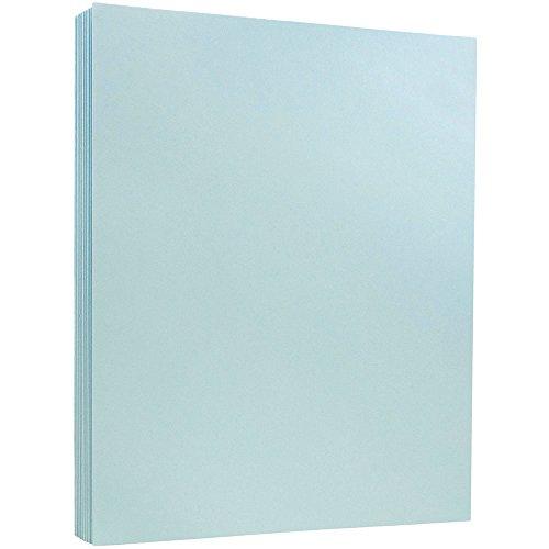 JAM PAPER Vellum Bristol 110lb Index Cardstock - 8.5 x 11 Coverstock - Blue Vellum - 50 ()