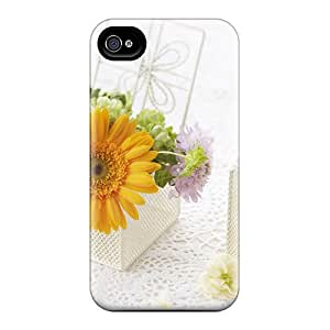 Excellent Iphone 4/4s Case Tpu Cover Back Skin Protector Mother S Day Beautiful Flower Decorating With Flowers
