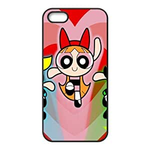Power Puff Girls Design Solid Rubber Customized Cover Case for iPhone 5 5s 5s-linda502