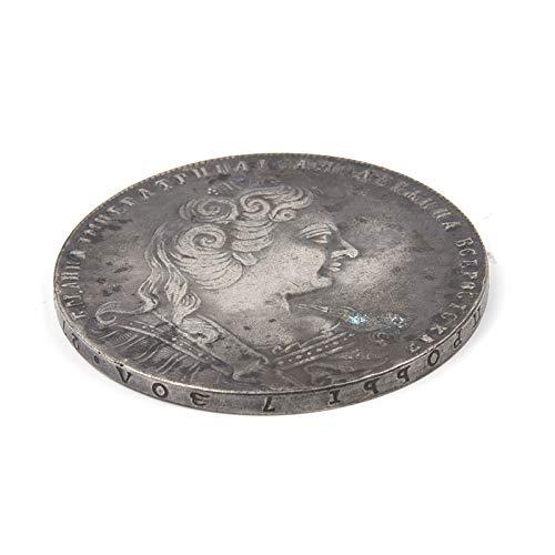 "homker 1730 Tsar Russia Anna Ivanovna Memorial Badge, Silver Plated Coin,Silver,1.5"" from homker"