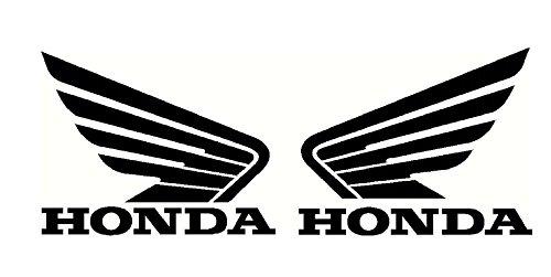 Set de 2 pegatinas de vinilo, diseñ o de alas de Honda, para moto, depó sito de combustible, cascos, paneles, ordenador diseño de alas de Honda depósito de combustible MR WHEEL TRIMS