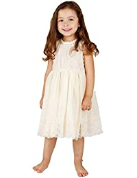 Ivory Off White Lace Vintage Flower Girl's Dress