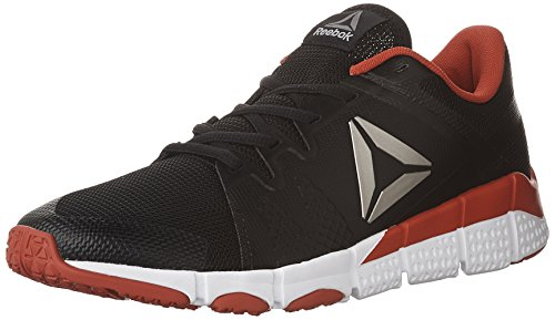 Reebok Mens Trainflex Cross-Trainer Shoe Black/White/Primal Red/Pewter/Grey