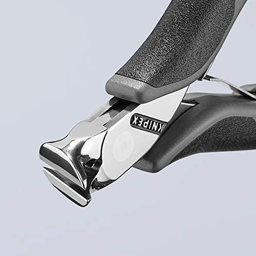 KNIPEX 64 32 120 ESD Alicate de corte frontal para electr/ónica ESD con fundas en dos componentes 120 mm