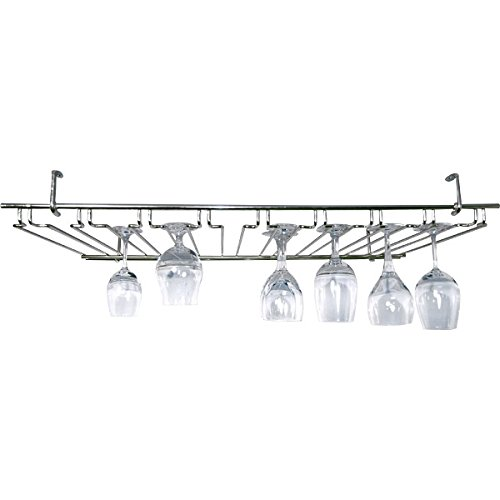 8 Channel Overhead Stemware Rack - Chrome by KegWorks