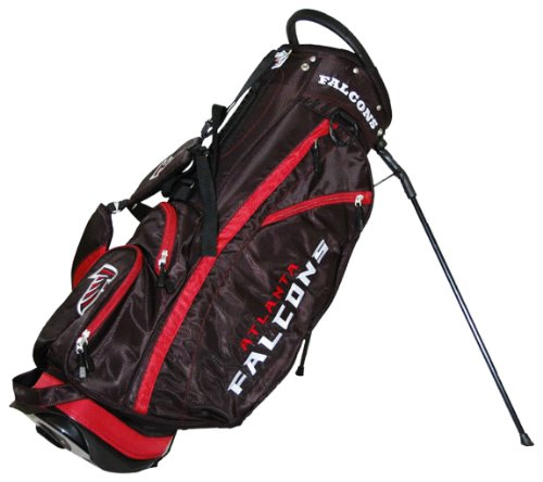 Team Golf NFL Atlanta Falcons Fairway Golf Stand Bag, Lightweight, 14-way Top, Spring Action Stand, Insulated Cooler Pocket, Padded Strap, Umbrella Holder & Removable Rain Hood