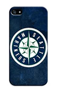 Baseball Seattle Mariners Customizable logo perfect Protector Cases for iphone 5/5s Cases by kobestar
