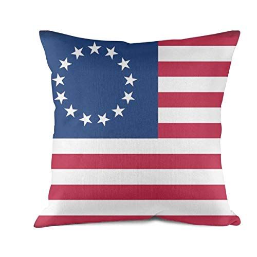 DDBBYLE Soft Cushion Cover Throw Pillow Covers Betsy Ross Decorative Pillow Cases Pillowcases Cotton Square Decor Pillow Protectors Standard Size 18 X 18 -