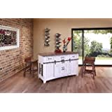 Amazon Com Neville Kitchen Island With Wooden Top Two Tempered