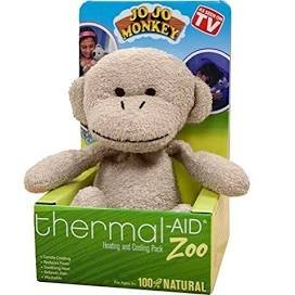 Stuffed Monkey Natural Heating & Cooling Pack by Thermal-Aid Zoo Natural