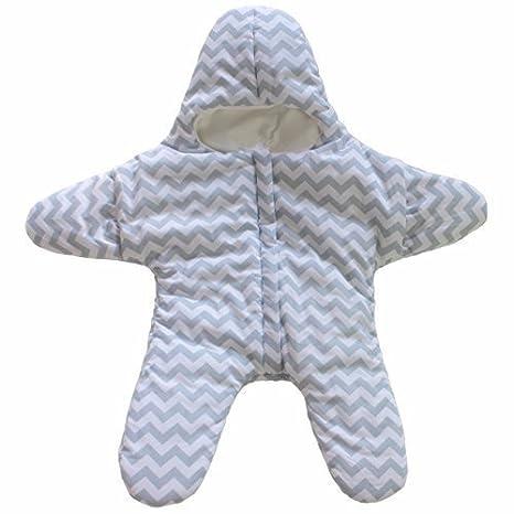 GenialES® Saco de Dormir para Cochecito Forma de Estrella de Mar para Niños Recién Nacido Bebé Invierno Starfish Sleeping Bag Talla Unica para 0-12M Azul: ...