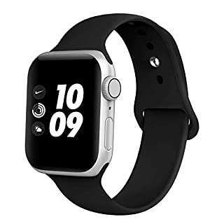 Compatible with Apple Watch Bands 38MM 40MM 42MM 44MM, iGK Soft Silicone Replacement Sport Straps Compatible with iWatch Series 5, 4, 3, 2, 1