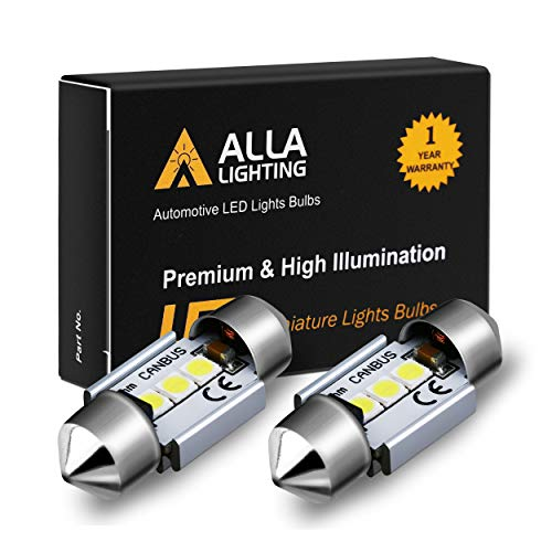 Alla Lighting DE3022 DE3175 LED Bulb Xtremely Super Bright 31mm CAN-BUS Festoon DE3021 3175 6428 3030 SMD Cars Trucks LED Interior Dome Map Trunk Step Courtesy Lights, 6000K Xenon White