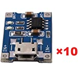 Vanpower 10pcs 1A 5V Micro USB TP4056 Lithium Battery Power Charger Board Module