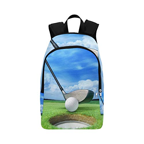 YPink Golf Ball On Lip Near Bunker Lovely Beautiful GOL Casual Daypack Travel Bag College School Backpack for Mens and Women