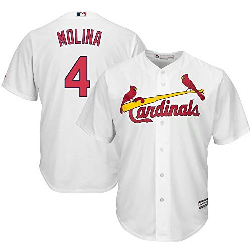 - '47 Men's Baseball Jersey St. Louis Cardinals #4 Molina Name and Number T-Shirt Team Sportswear for Men Women Kids Youth