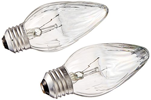 G E LIGHTING 75340 Flame Shaped Auradescent Bulb, 25W, 2-Pack