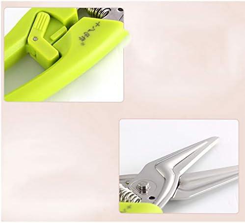 WUHUIZHENJINGXIAOBU 家庭用ステンレス鋼自動春キッチンはさみ、グリーン21.5 * 4.9cm 高品質 (Color : Green, Size : 21.5cm)