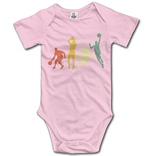 Jaylon Baby Climbing Clothes Romper Play Basketball Game Infant Playsuit Bodysuit Creeper Onesies Pink -