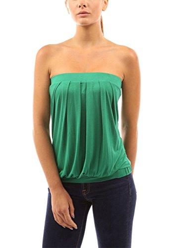 Spiaggia Estate Senza Verde Top Shirt Pieghettato Spalle Halterneck Casuale Donna Spalline Pullover Maglia T Camicetta Camicia Estate Eleganti Maglietta Camicetta vUvAHrq