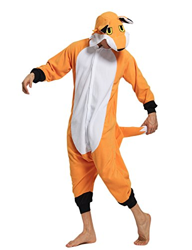 KING Fun Adult Animal Cosplay Costumes Fox Unisex Onesie Pajamas Lounge wear A9
