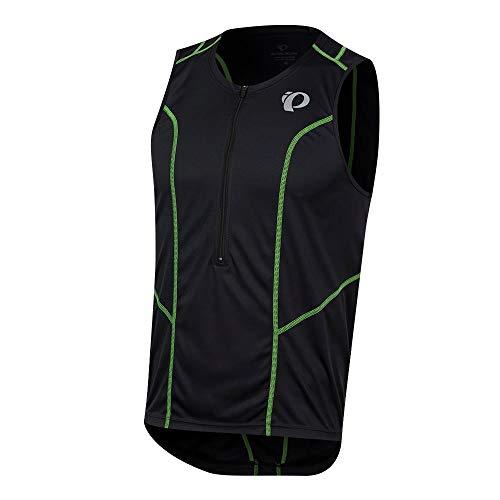 Pearl iZUMi Select Pursuit Tri Sleeveless Jersey, Black/Screaming Green, XX-Large
