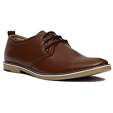 NOHIDE HQ Microfibre Vegan Leather Water Resistant Lace Up Derby Casual   Semi-Casual Shoes   Party Wear Shoes For Men   Boys PETA Approved  Buy  Online at ... 37b5627ea755