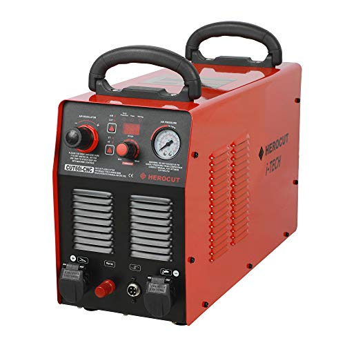 HeroCut 230v CUT60i CNC Plasma Cutter Blow Back Non-HF Pilot Arc Starting Inverter Plasma Cutter 60Amps 25mm Clean Cut, CNC Plasma Power