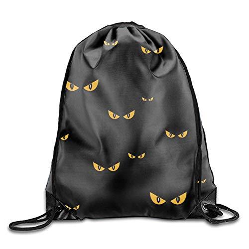 Spooky Eyes Halloween Sackpack Drawstring Backpack Waterproof Gymsack Daypack For Men Women ()