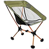 WildHorn Outfitters Terralite Portable Camp/Beach Chair (Supports 350 lbs) with TerraGrip Feet - Olive