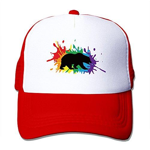 LGBT Friendly UC Berkeley Red Adjustable Snapback Mesh Hat (Lesbian Halloween Jokes)