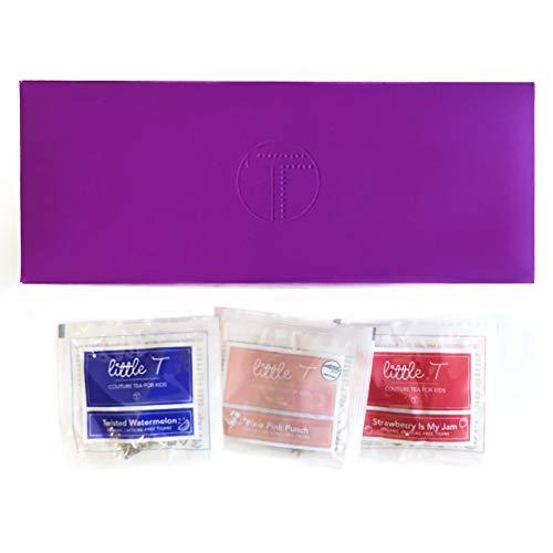 LITTLE T Kids Tea - Herbal Tea Sampler (24-count Presentation Box) | 100% Organic Herbal Tea for Kids | Sugar-free | Caffeine-free | Antioxidant-rich | Immune-Boosting | Fruity Herbal Tea Sachet Bags