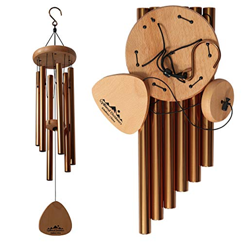 "UpBlend Outdoors Wind Chimes for People who Like Their Neighbors 2 - an Amazing Addition to a Patio, Porch, Garden, or Backyard - 29"" Total Length."