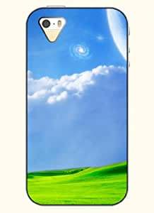 OOFIT Phone Case Design with Blue Sky and Grass for Apple iPhone 4 4s 4g