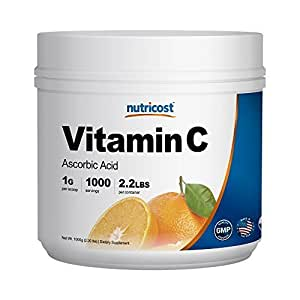 Nutricost Pure Ascorbic Acid Powder (Vitamin C) 2.2 LBS