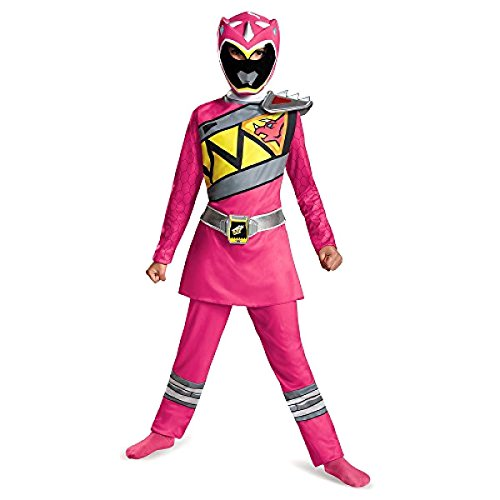 Power Rangers Pink Dino SuperCharge Costume, Girl's size Medium, 7-8 (Pink Power Ranger Costume Kids)