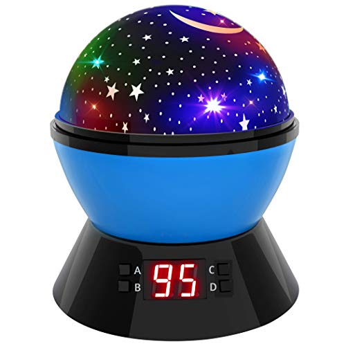 Star Sky Night Lamp and Night Light for Kids, 360 Degree Rotating Cosmos Star Projector for Kids and Babies, Beautiful Night Light Star Sky w/ LED Timer Auto Shut-Off for Kids Bedroom, Gift ()